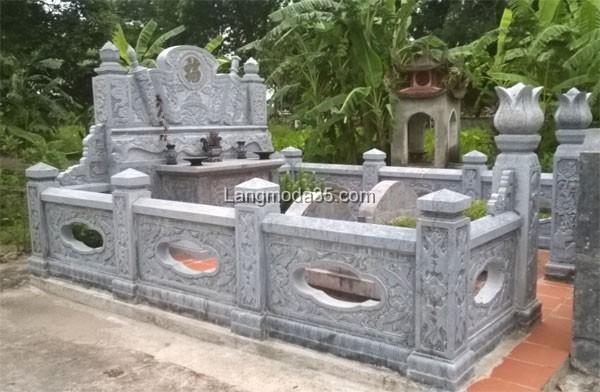 Mẫu lăng mộ đá đẹp LMD 011